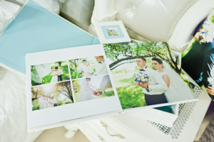 custom photo book wedding album